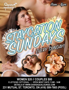 Staycation Sundays @ Oasis Aqualounge | Toronto | Ontario | Canada