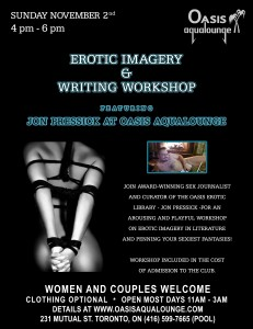 Erotic Imagery Writing Workshop: ft. Jon Pressick