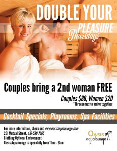 Double Your Pleasure @ Oasis Aqualounge | Toronto | Ontario | Canada