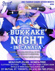 Bukkake Night in Canada