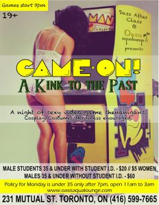 Game On- Sexy Video Game Night