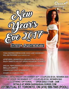 New Year's Eve Party 2017-Eros & Aphrodite