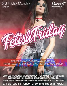 Fetish Friday: International Fetish Day  & Live Cellist