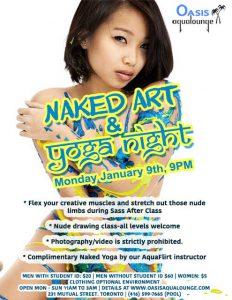 Naked Art & Yoga Night