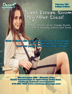 Sweet Escape Room-Stay After Class!