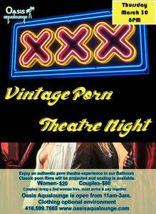 Vintage Porn Theatre Night