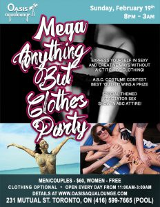 MEGA A-B-C: Anything But Clothes Party