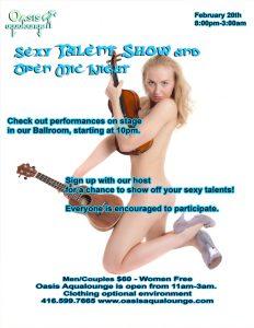 Sexy Talent Show & Open Mic Night
