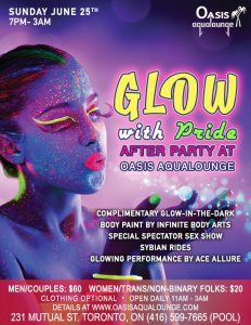 Glow with Pride 2017: Oasis After Party