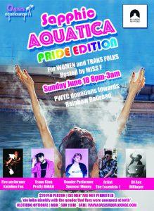 SAPPHIC AQUATICA: SPA & SOCIAL FOR WOMEN & TRANS FOLKS-Pride 2017 Edition