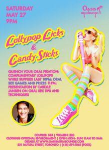 Lollipop Licks & Candy Sticks; Oral Sex Workshop with Carlyle Jansen