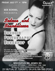 Seduce & Scandaleuse: Boudoir Photography Workshop