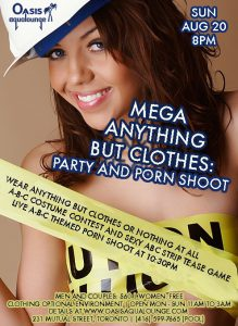 MEGA Anything-But-Clothes Party & Porn Shoot