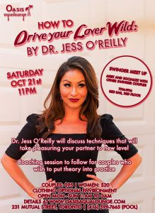 Drive Your Lover Wild With Special Guest Dr. Jess O'Reilly