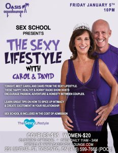 Sex School welcomes Carol & David from The Sexy Lifestyle