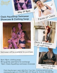 Oasis AquaShop Swimwear Showcase & Clothing Swap